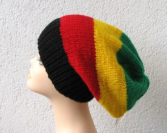 Knitting Patterns For Rasta Hats : Bob marley hat   Etsy UK