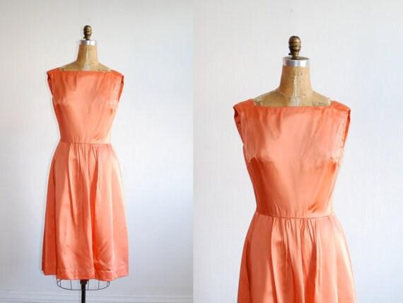 Vintage 1950s satin (acetate) cocktail dress