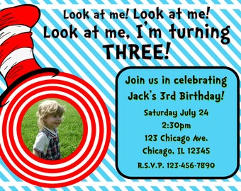 Dr. Seuss Birthday Party Invitation Template 2