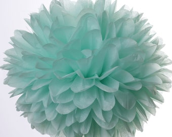 Cool Mint 1 Large tissue paper poms