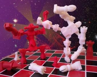 Robo-Action Chessbot Toy Chess Set (Hero vs Monster)