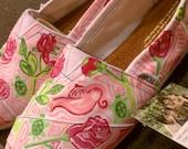 Lilly Pulitzer Inspired Handpainted Toms- Delta Zeta