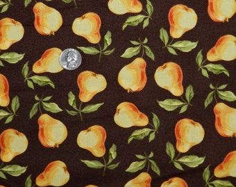 Bountiful Pear - Fabric By The Half Yard 18 inches x 42 inches
