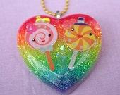Rainbow Lollipop Friends Necklace