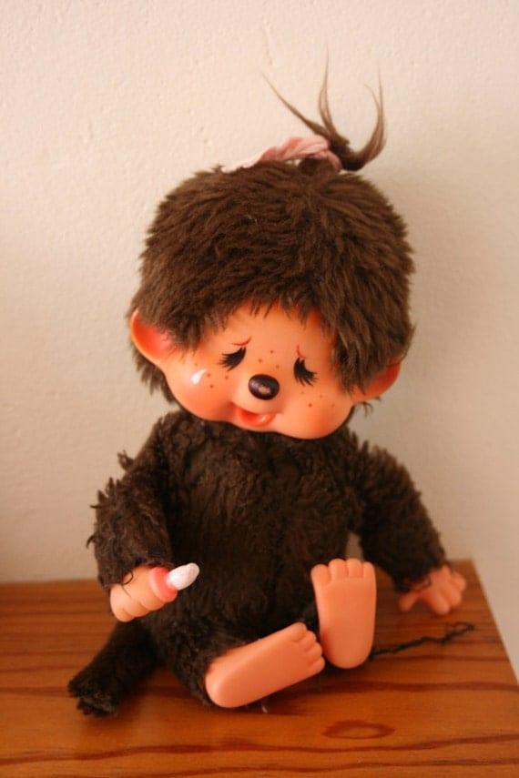 Items similar to Monchichi Sekiguchi Monkey crying Doll