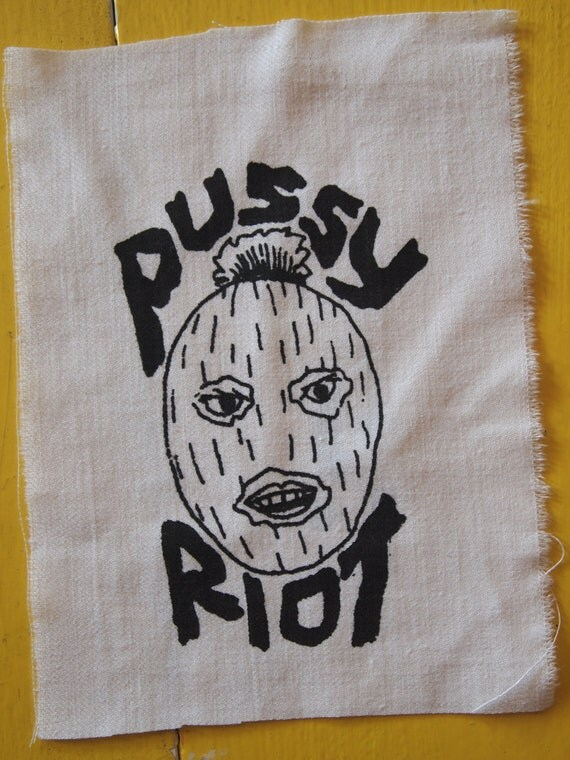 Pussy Riot white patch