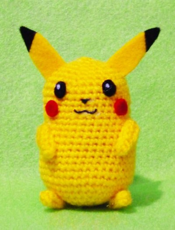 Amigurumi Free Patterns Bunny : Items similar to Crochet Pikachu Pokemon Amigurumi- Finish ...