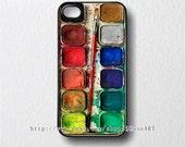 iphone 4 case, iphone 4s case, iphone case - Watercolor Set iPhone Hard Case