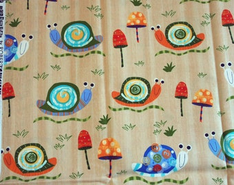 Creatures and Critters - Amy Schimler - Snails in light brown - Half yard