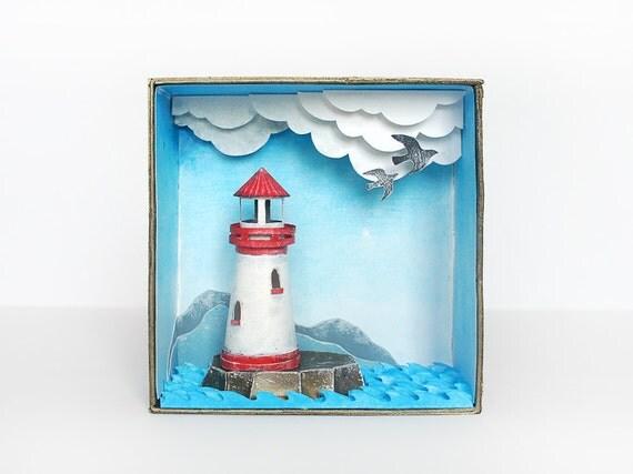 Shadow box diorama, Lighthouse