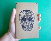 Hand Painted Sugar Skull Moleskine Journal Notebook