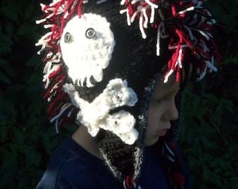 Skull and Crossbones Mohawk Hat