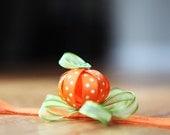 Origami pumpkin headband.