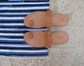 Handmade Grecian Sandals in Pure Leather - Made in the Traditional Artisanal Way
