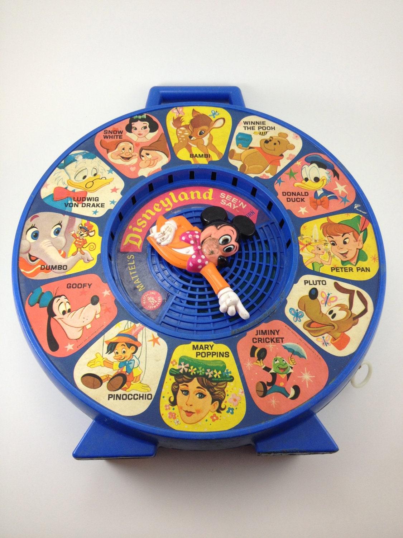 Old Mattel Toys : Disneyland see n say mattel s childs toy vintage decor