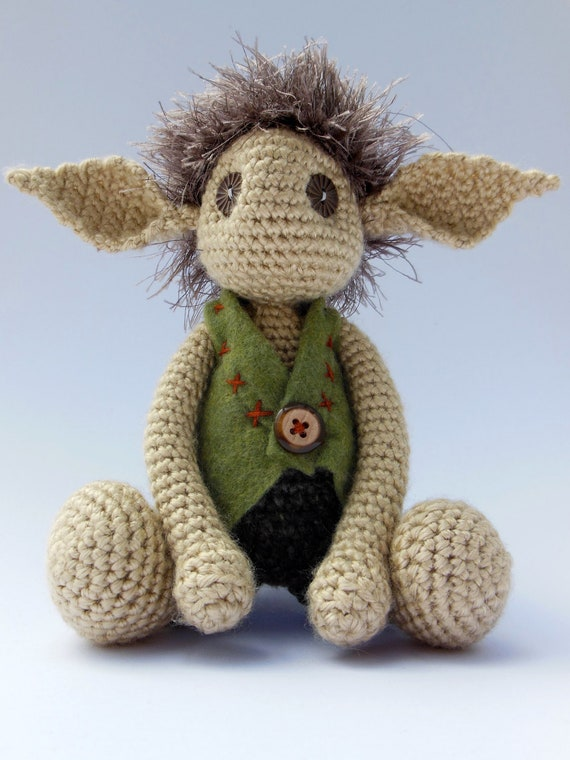 Amigurumi Crocheted Goblin Guy by AychZeeMakery on Etsy