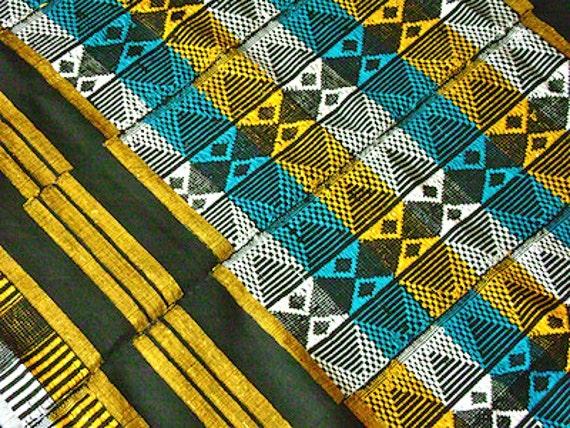SALE15%OFF - Colourful African hand woven mandjak fabric