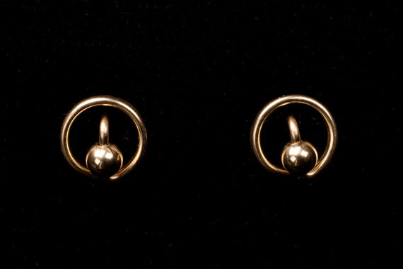 Small, classic stud earrings, gold filled, sterling silver, niobium, CHOICE of BEADS & METAL