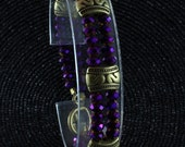 Hand cut crystal bracelet