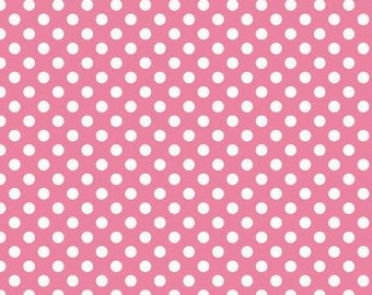 Small Dots in Hot Pink by Riley Blake