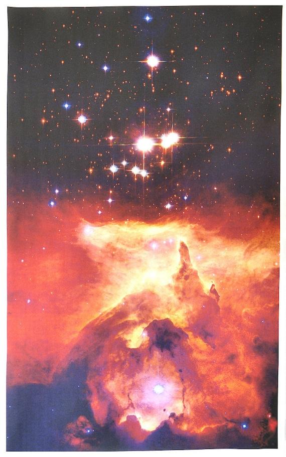 Massive Star Astronomy Fabric 20 x 33 inches on Kona Cotton