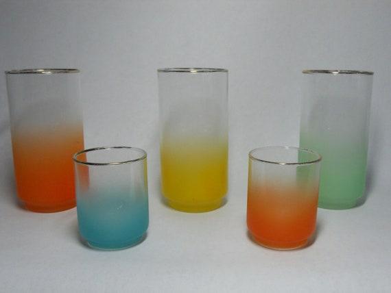 Blendo drinking glasses  set of 5