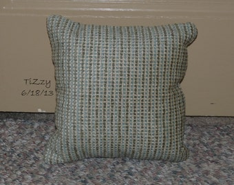 Muted Blue Throw Pillows : Items similar to From the Woodsy Chic Christmas collection: mint green and cream striped ...