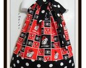 Custom Made Pillowcase Dress-Size Available-NB-3T-Georgia Bulldog