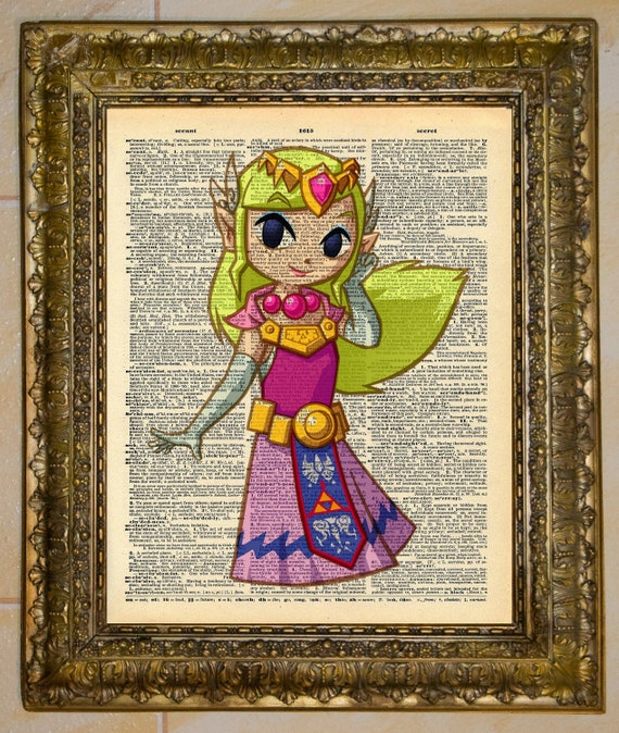 Legend of Zelda Princess Zelda Dictionary Art