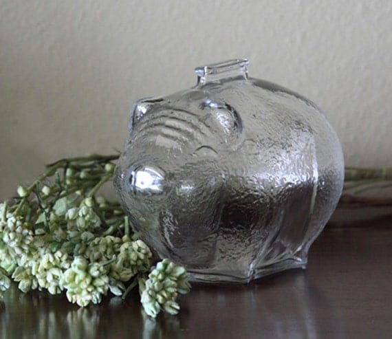 Items Similar To Large Vintage Anchor Hocking Clear Glass