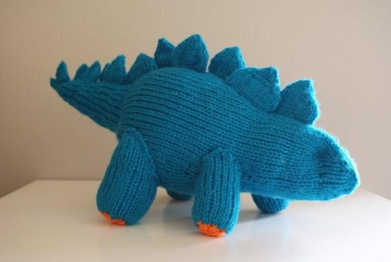 Knitting Inspirations Perth : Diy knitting pattern stegosaurus dinosaur stuffed animal