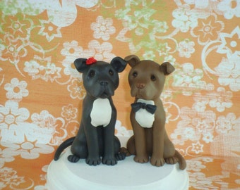 Custom Made Dog Wedding Cake Topper