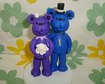 Custom Handmade Grateful Dead Bears Cake Topper
