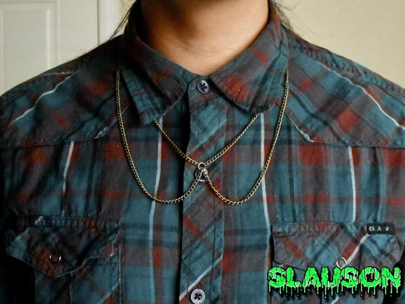 Symmetrical Gold Chain Collar Necklace