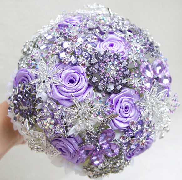 wedding bouquets with bling custom order for amp evelina brooch bouquet by 8537