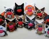 Fleece Catnip Crinkle Toy - Plush Kitty Face Cat Toy