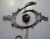 Musical Note Black Metal Wall Clock