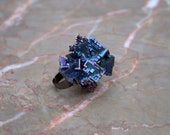 Bismuth Crystal Ring Iridescent Colors - The Wishbringer
