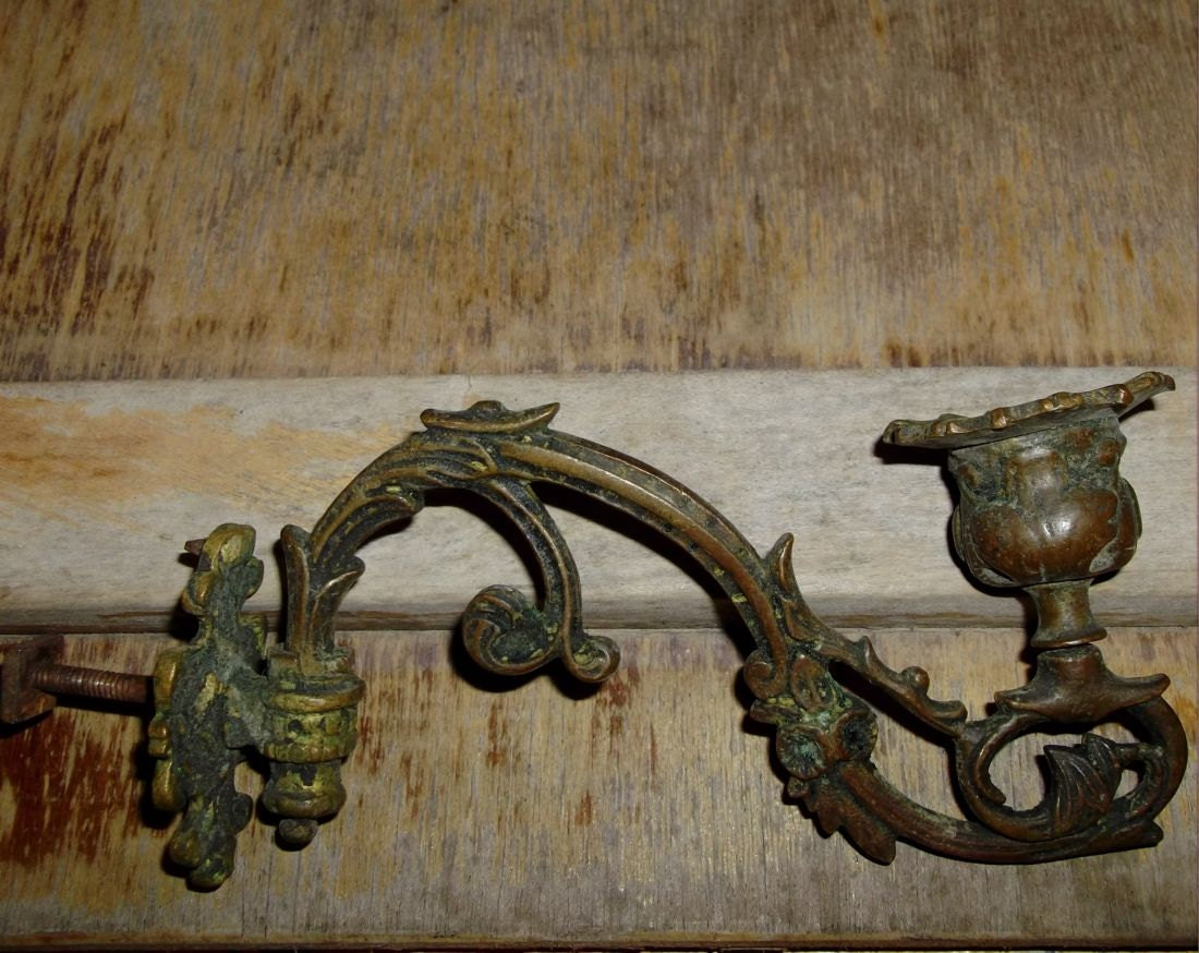 Antique Italian Wall Sconces : SALE Rare Antique Italian Wall Candle Holder Sconce by Tesorus