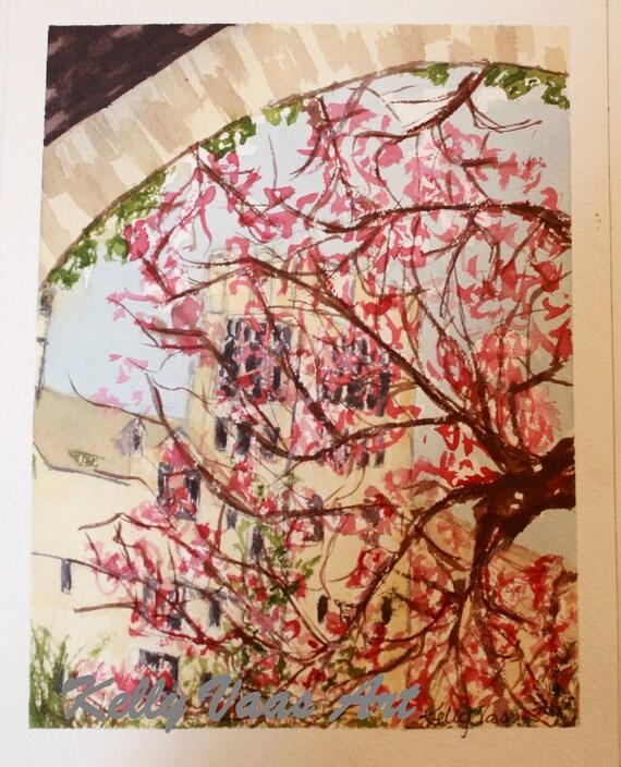 "Le Mans Magnolia, 8.5x11"" Watercolor Print"