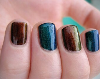 Phoenix Duochrome Color Shifting Top Coat Custom Nail Polish 15mL