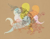 """Andrew DeGraff - Original Painting, """"Ghosts of the Reign"""", 15.75"""" x 11.75"""""""