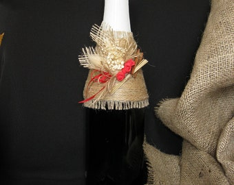 Rustic Wedding Champagne Decoration