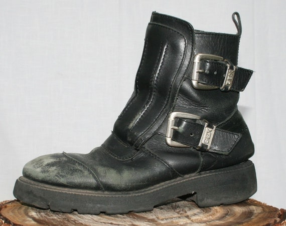 Badass Leather Biker Boots GBX size mens 11 by kissmyattvintage