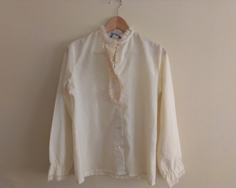 70s vintage seventies blouse with some small spots on left sleeve
