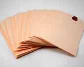 "100 Large Shipping Tags - 2 3/8"" x 4 3/4"" - Size #5 Manila Tag"