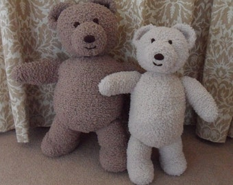 Cuddle and Snuggle Teddy Bear Knitting pattern DOWNLOAD