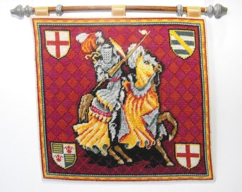 Medieval Wall hanging Kit 1:12 scale Jouster