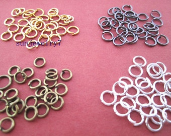 400pcs 0.9mmx5mm mixed color (4color)Metal Jump ring  for Jewelry Making