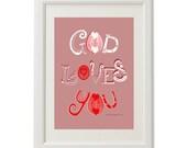 Illustration / God Loves You / 21 x 29.7 cm / Limited Edition
